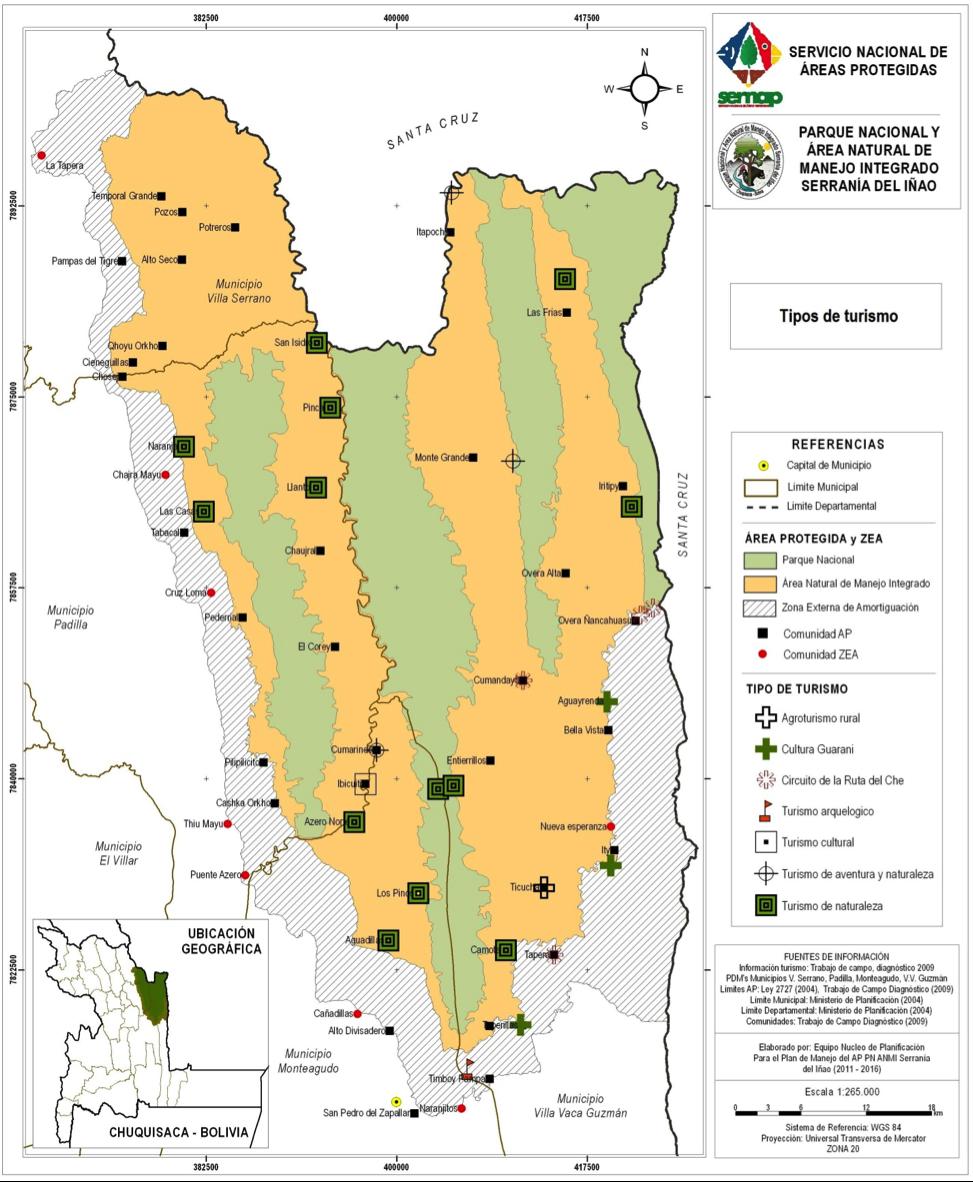 Mapa potencial turístico