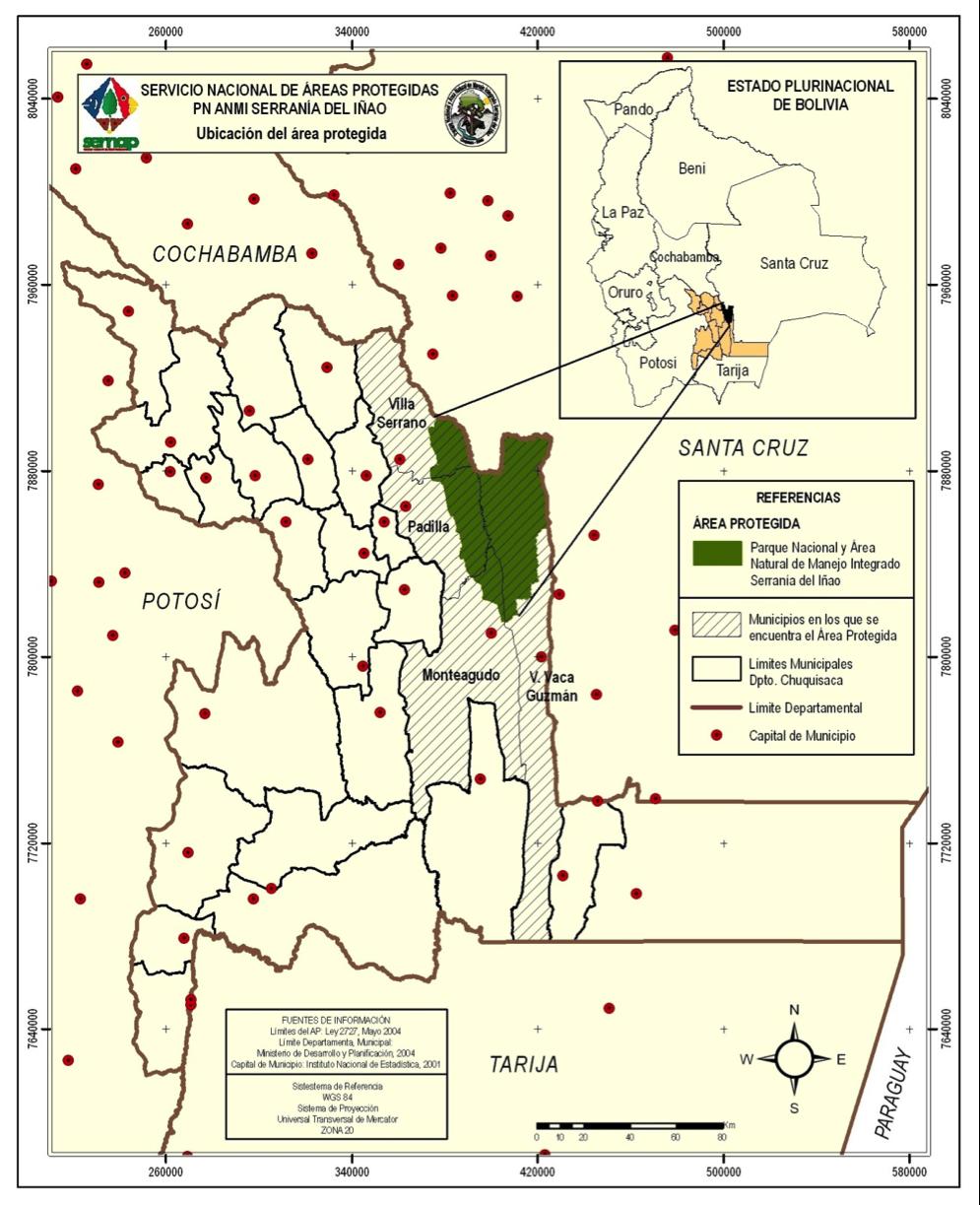Mapa ubicación del Iñao